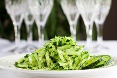 Eenvoudige komkommersalade Stock Fotografie