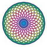 Eenvoudige mandala van de regenboogcirkel royalty-vrije illustratie