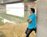 Eenvoudige mannelijke modelfoto's Indiër Stock Afbeelding