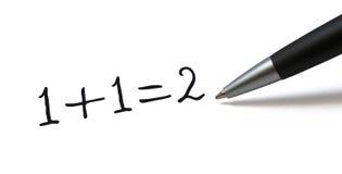 Eenvoudige mathformule Stock Foto