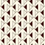 Eenvoudige moderne druk met met elkaar verbindende pijlen Eigentijdse abstracte achtergrond met herhaalde wijzers Naadloos patroo stock illustratie