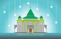 Eenvoudige Moskee Royalty-vrije Stock Foto's