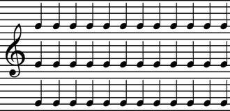 Eenvoudige muzieknota's Stock Afbeeldingen