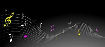 Eenvoudige muzieknota's Royalty-vrije Stock Foto's