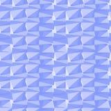 Eenvoudige naadloze abstracte blauwe geometrische achtergrond Royalty-vrije Stock Afbeelding