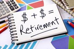 Eenvoudige pensioneringsformule Stock Foto