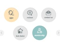 Eenvoudige pictogrammen voor Web Stock Foto's