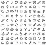 Eenvoudige pictogramreeks stock illustratie