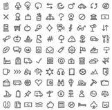 Eenvoudige pictogramreeks Royalty-vrije Stock Fotografie