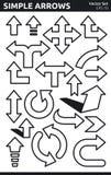 Eenvoudige Pijlen Stock Fotografie