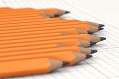 Eenvoudige potloden Stock Foto's