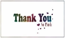 Eenvoudige Regenboog dankuwel Kaart royalty-vrije stock foto's