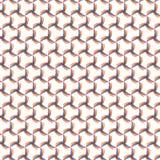 Eenvoudige Rond gemaakte Kleurrijke Getrokken Mesh Grid Fabric Illustration Seamless-Patroonachtergrond Vector Illustratie
