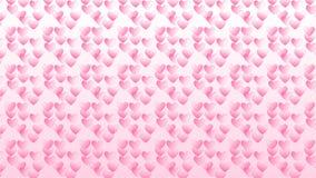 Eenvoudige roze achtergrond met sommige harten Stock Foto