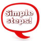 Eenvoudige stappen Stock Afbeeldingen