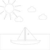 Eenvoudige te kleuren tekening stock illustratie