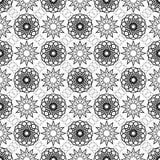 Eenvoudige vector naadloze zwart-witte achtergrond, textuur royalty-vrije illustratie