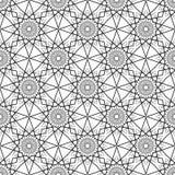 Eenvoudige vector naadloze zwart-witte achtergrond, textuur stock illustratie