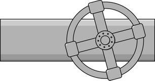 Eenvoudige vectorgasklep Stock Afbeelding