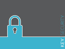 Eenvoudige veiligheidsachtergrond met hangslot Royalty-vrije Stock Afbeeldingen