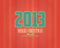 Eenvoudige Vrolijke Kerstmis en de Gelukkige Bellen van het Nieuwjaar Vector Illustratie
