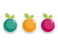 Eenvoudige Vruchten Stock Afbeeldingen