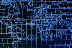 Eenvoudige wereldkaart Stock Foto