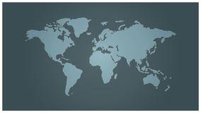 Eenvoudige wereldkaart Royalty-vrije Stock Fotografie