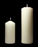 Eenvoudige witte kaarsen Royalty-vrije Stock Fotografie