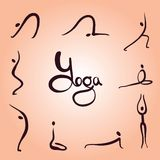 Eenvoudige yogaasanas stock foto's