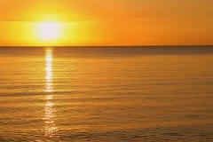 Eenvoudige zonsondergang Stock Afbeeldingen