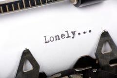 Eenzaam Stock Foto