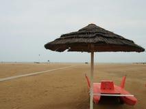 Eenzaam Adriatisch Strand royalty-vrije stock fotografie