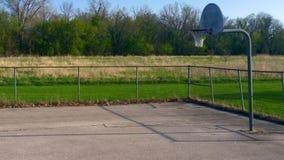 Eenzaam Basketbalhof Royalty-vrije Stock Afbeeldingen