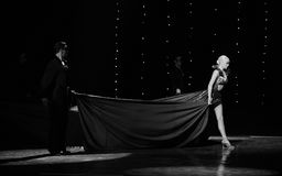 Eenzaam de danser-de werelddans van Oostenrijk Stock Fotografie