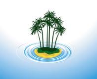 Eenzaam eiland royalty-vrije illustratie