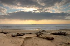 Eenzaam eiland Stock Foto
