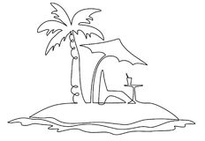 Eenzaam Eiland vector illustratie