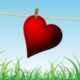 Eenzaam hart stock illustratie
