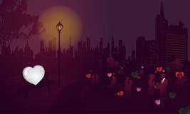 Eenzaam Hart (in Valentijnskaart) Stock Afbeelding