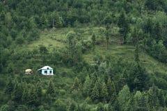 Eenzaam huis Stock Foto