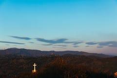 Eenzaam Kruis stock foto