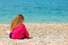 Eenzaam meisje Stock Foto