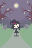 Eenzaam Meisje in het Graf Stock Fotografie