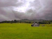 Eenzaam Plattelandshuisje in Duitsland royalty-vrije stock fotografie