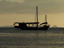 Eenzaam schip Royalty-vrije Stock Fotografie