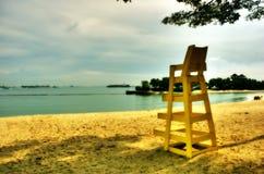 Eenzaam Sentosa Strand Singapore Royalty-vrije Stock Fotografie