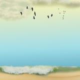 Eenzaam strand vector illustratie