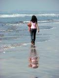 Eenzaam Strand Royalty-vrije Stock Afbeelding