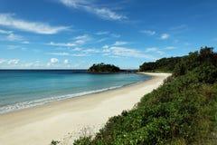 Eenzaam Strand, Australië Stock Afbeelding